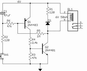 relay how can i add a power off delay to this circuit With introduction to the electronic relay using snap circuits