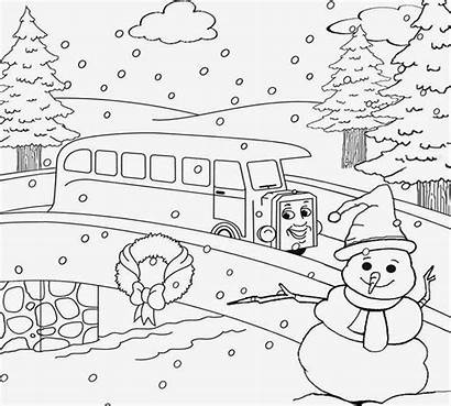 Scenery Mountain Coloring Pages Nature Printable Colouring