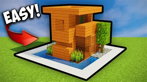 tiny minecraft starter house minecraft tutorial  youtube