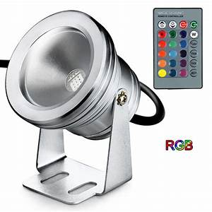 Rotating ceiling light projector : Degree rotating dc v waterproof rgb led projector