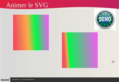 This makes the svg element and its contents part of the document's dom tree. Vectoriel et 3d en html5 - Animation newschool (partie 2)