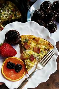 Crustless Bacon Gruyere Cheese Quiche - Reluctant Entertainer