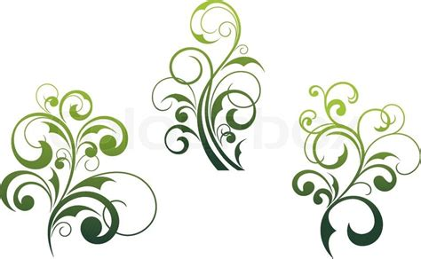 schöne motive set sch 246 ne florale elemente und motive isoliert auf wei 223