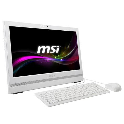 pc de bureau tactile msi ap200 208xeu blanc pc de bureau msi sur ldlc com