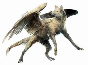 Wolf with wings by Kipine on DeviantArt