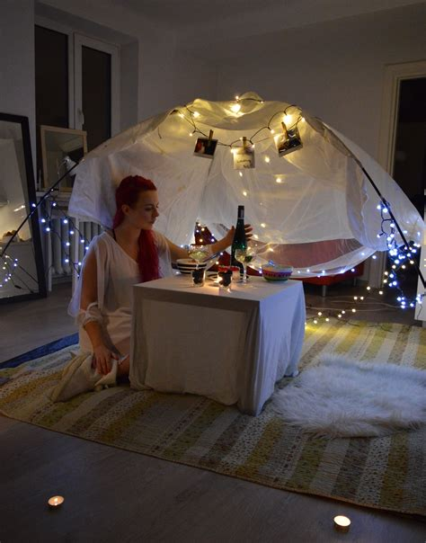 That way all we have to do is scan the list and find something fun to do. Cozy romantic surprise birthday dinner in the tent at home ...