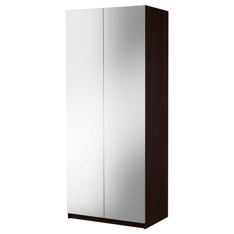 Brown Wardrobe With Mirror by Bedroom Pax Wardrobe With 2 Doors Vikedal Black