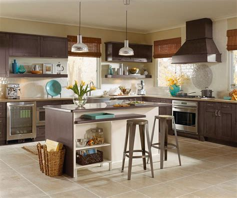 wall lift up cabinet kitchen craft cabinetry 566 shaker style cabinets in casual kitchen 2