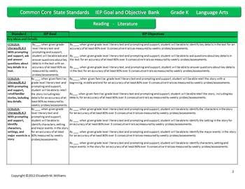 common iep goal and objective bank primary grades k 3 631 | original 338706 2
