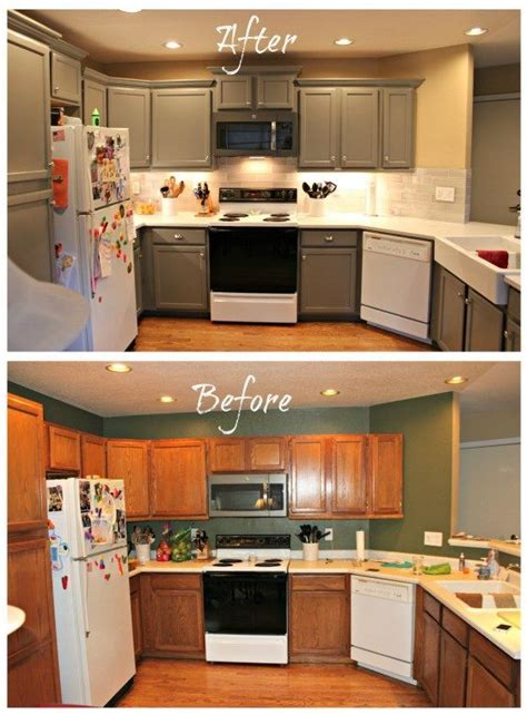 Kitchen Cabinet Remodel Diy by 25 Great Ideas About Oak Cabinet Makeovers On