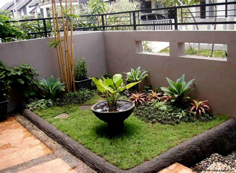 desain taman minimalis  lahan sempit depan rumah desain