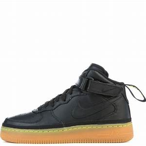 Nike AIR FORCE 1 MID Black/Lime Green/Gum