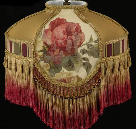 plain jane l shades victorian lamp shade croscill roses fabric with gold silk