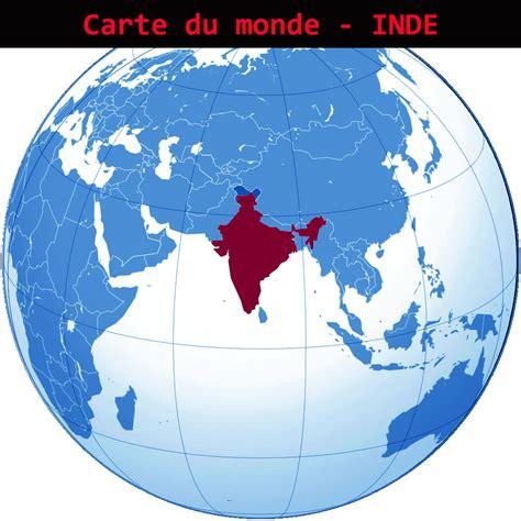 Carte Du Monde Inde by Inde Carte Du Monde Voyages Cartes