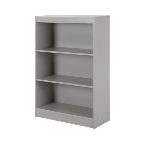 south shore axess 3 shelf bookcase gray