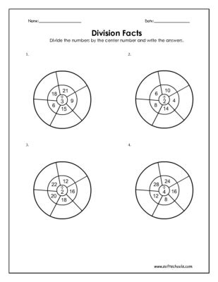 division worksheets softschools division facts 2 3 and 4 worksheet