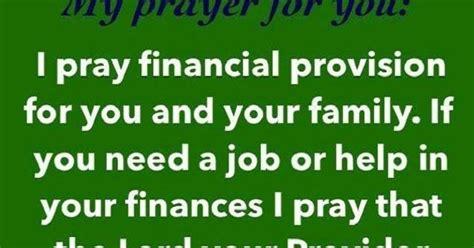 prayer financial provision  job