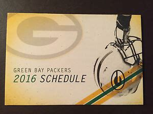 green bay packers  nfl pocket schedule packers pro