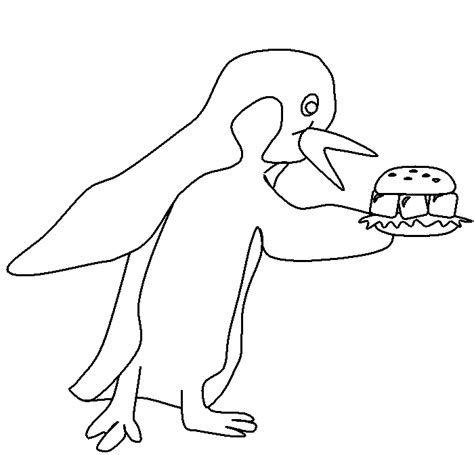 Pingwing Kleurplaat by Pinguin Coloring Pages