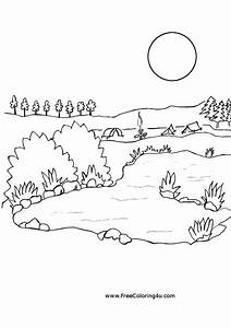 Lake #14 (Nature) – Printable coloring pages