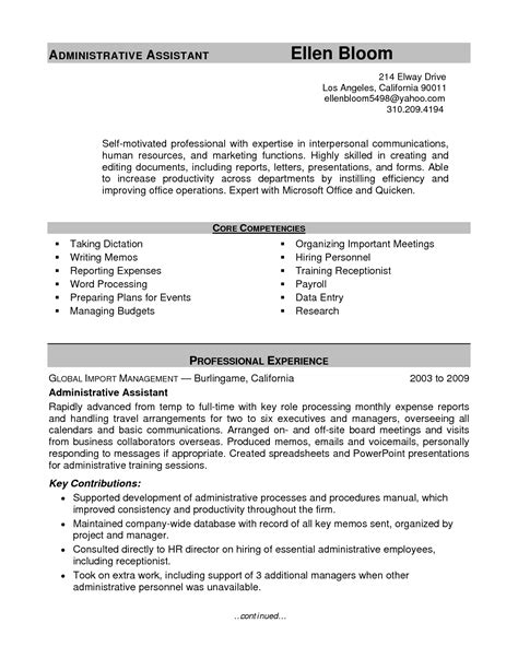 Hr Admin Resume Objective by Hr Admin Resume Objective Sidemcicek