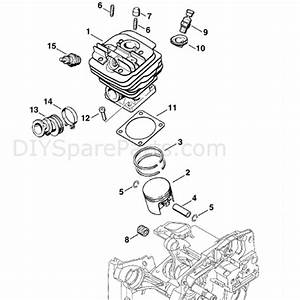 Stihl Ms 360 Chainsaw  Ms360 C  Parts Diagram  Cylinder