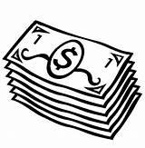 Coloring Dollars Dinero sketch template