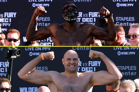 Deontay Wilder vs Tyson Fury 2 weigh in: Both fighters ...