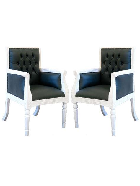 fauteuil de bureau anglais 2 fauteuils visiteur de bureau style anglais en acajou