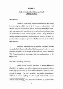 Business Statement Template 7 Business Code Of Ethics Policy Templates Free