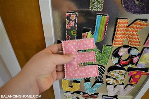 fabric magnet letters  crunch farm baby balancing home
