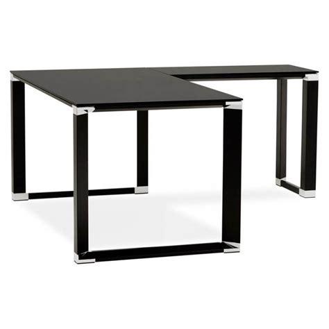 bureau verre trempé noir bureau d 39 angle design master en verre trempé noir