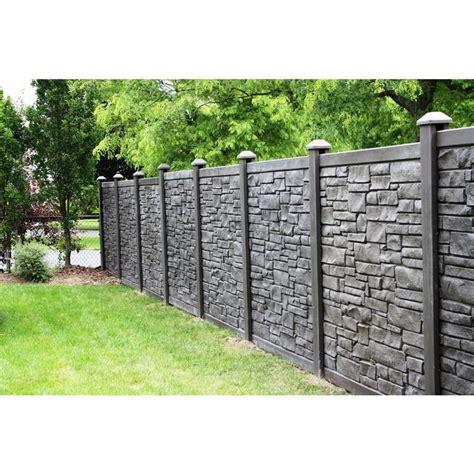 simtek  ft    ft  ecostone dark brown composite fence panel fpxdbr en  cerca de