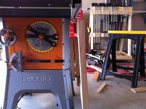 ridgid  ts shop built folding outfeed table
