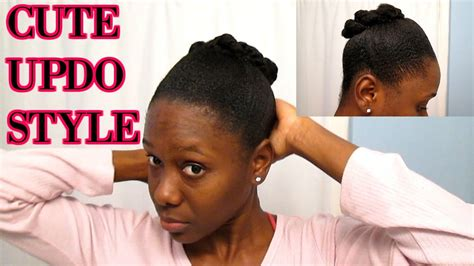natural hairstyle updo  short  hair quick