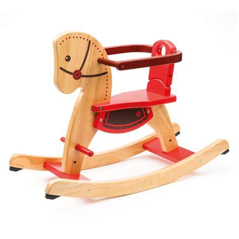jouet en bois cheval a bascule