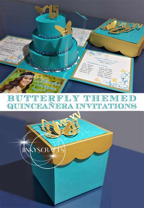 lauras quinceanera diy butterfly themed invitations