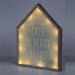 Cadre Photo Lumineux : cadre lumineux maison fais de beaux r ves bleu ~ Teatrodelosmanantiales.com Idées de Décoration
