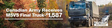 mack defense builds final truck  canadian medium