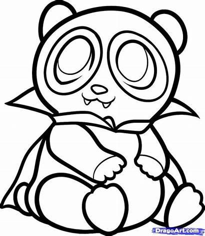 Panda Coloring Pages Bear Draw Pandas Owl