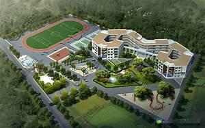 School Building Aerial View 3d Rendering - Buy Aerial View ...