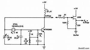Pierce Harmonic Oscillator Uff08100 Mhz Uff09 - Oscillator Circuit - Signal Processing