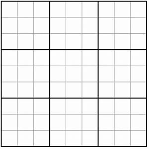 Images Large Blank Sudoku Grid Printable Best Games