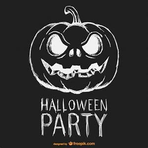 Kürbis Schwarz Weiß : halloween party schwarz wei poster download der kostenlosen vektor ~ Orissabook.com Haus und Dekorationen