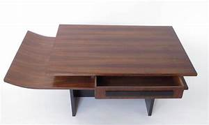 Italian two level rosewood coffee table with one drawer on for 3 level coffee table
