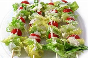 Super Low Calorie Caesar Salad on a Stick with Weight