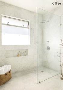 Bathroom Glass Shower Ideas Walk In Standing Shower With Glass Wall And No Door No Ledge Floor Is Continuous 10 Walk In