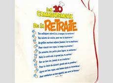 Tablier humoristique 'Les 10 commandements de la Retraite