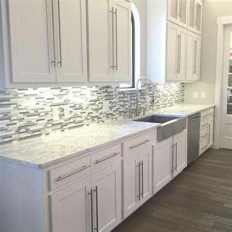 kitchen backsplashes for white cabinets glass backsplash tile white modern brown cabinet gray