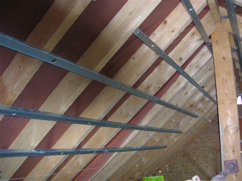 plafond en placo sur rail rail placo pour plafond en pente communaut 233 leroy merlin
